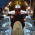 Shuttle Discovery, in the Vehicle Assembly Building (NASA Photo)